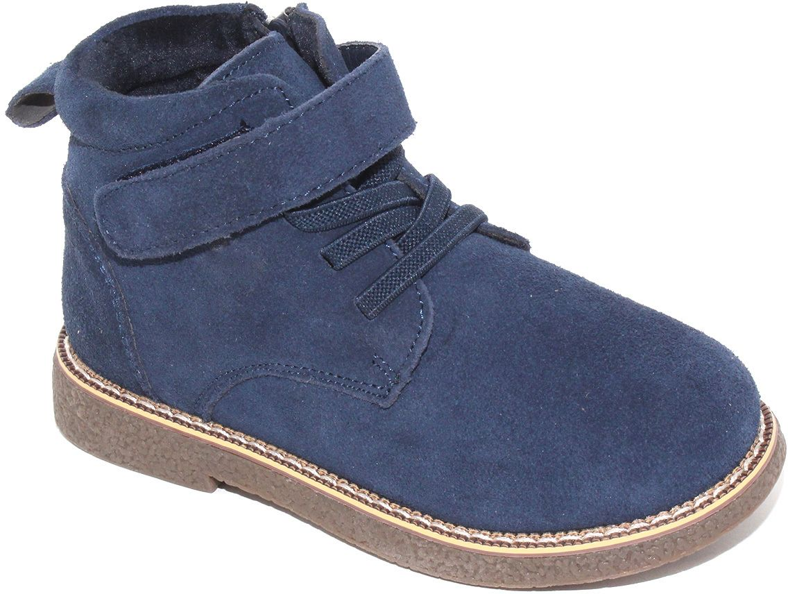 Ботинки для мальчика Капитошка, цвет: синий. F7748. Размер 30F7748Модные ботинки от Капитошка придутся по душе вам и вашему мальчику! Модель выполнена из натуральной кожи. Ярлычок на заднике предназначен для удобства обувания. Ботинки застегиваются на молнию, расположенную на одной из боковых сторон. Эластичная шнуровка и ремешок на застежке-липучке прочно зафиксируют изделие на ноге. Удобные ботинки - необходимая вещь в гардеробе каждого ребенка.