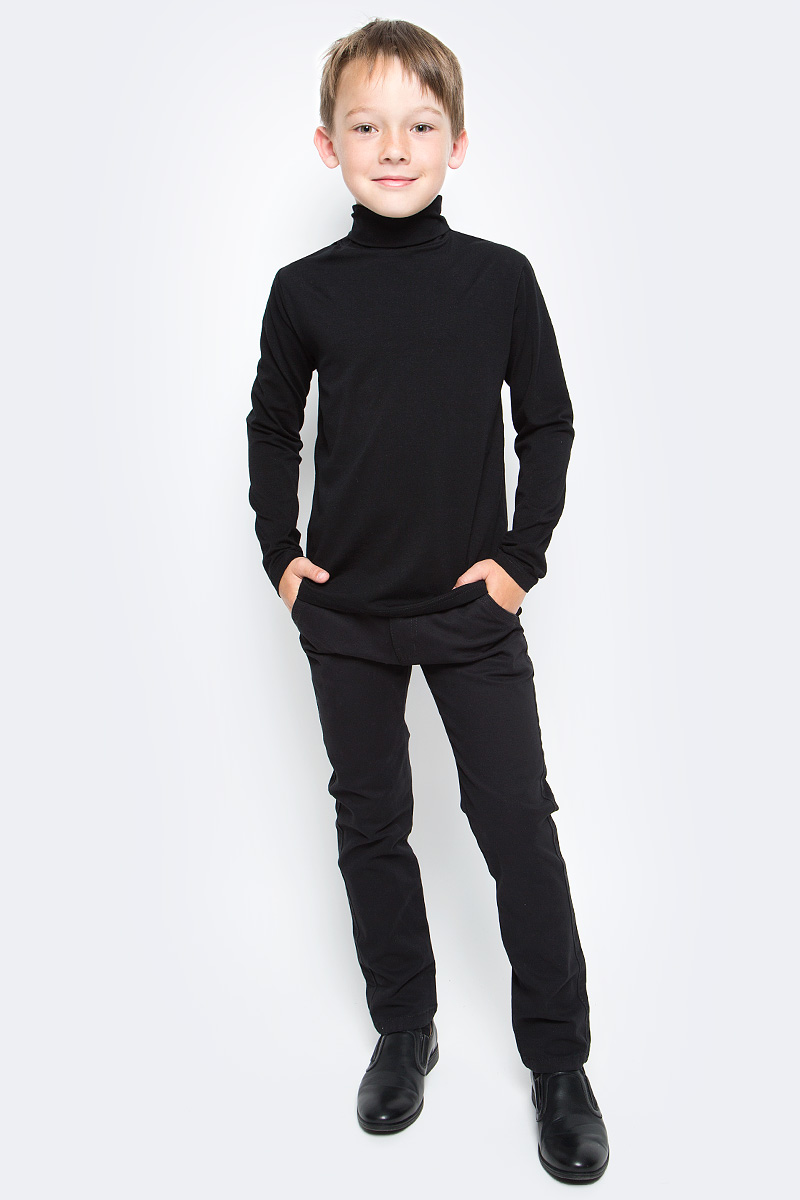 Водолазка для мальчика Luminoso, цвет: черный. 727032. Размер 134727032Водолазка для мальчика Luminoso изготовлена из хлопка с добавлением эластана. Модель имеет длинные рукава и воротник-стойку. Выполнена в классическом дизайне.