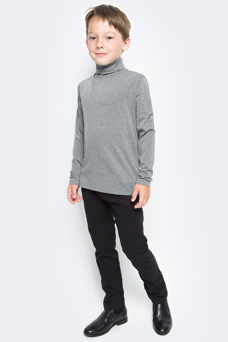 Водолазка для мальчика Luminoso, цвет: темно-серый меланж. 727033. Размер 152727033Водолазка для мальчика Luminoso изготовлена из хлопка с добавлением эластана. Модель имеет длинные рукава и воротник-стойку. Выполнена в классическом дизайне.