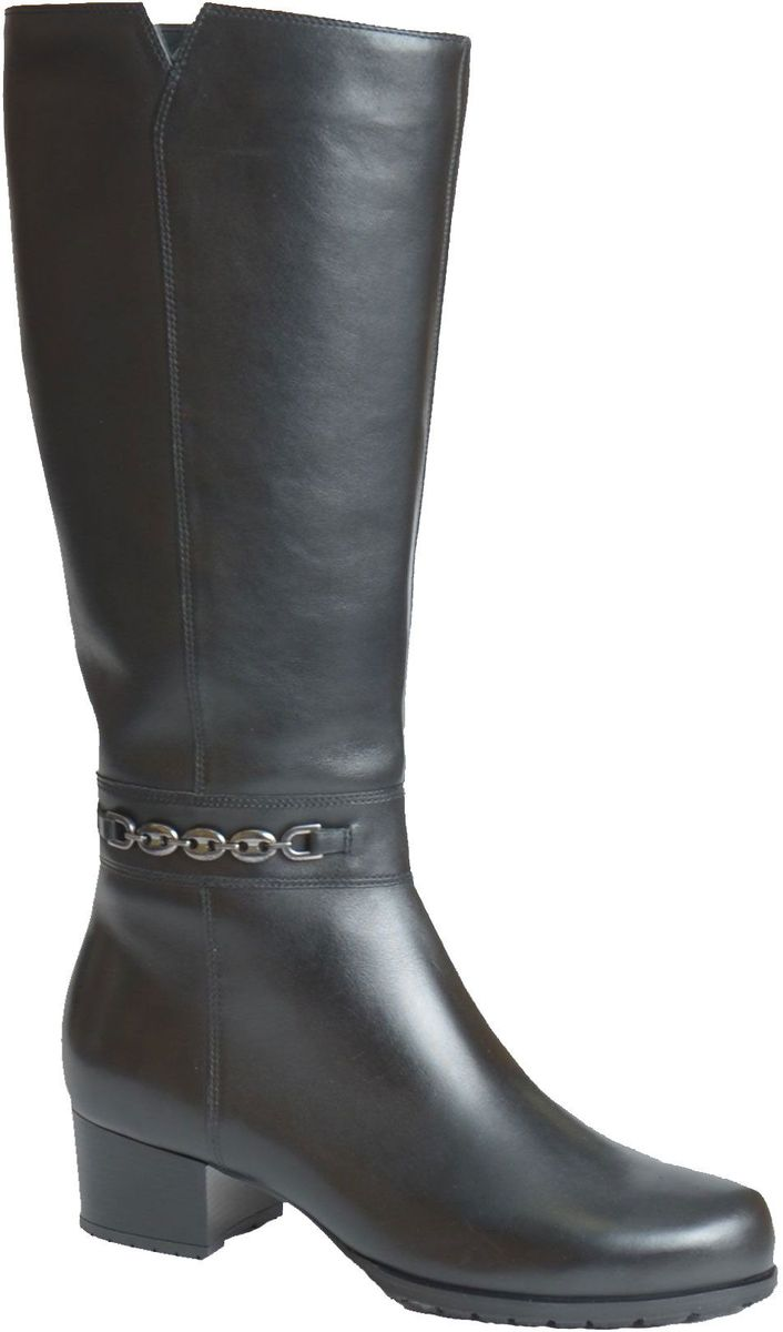 Сапоги женские Francesco Donni, цвет: черный. F1S4 HZ892-02F08. Размер 39F1S4 HZ892-02F08