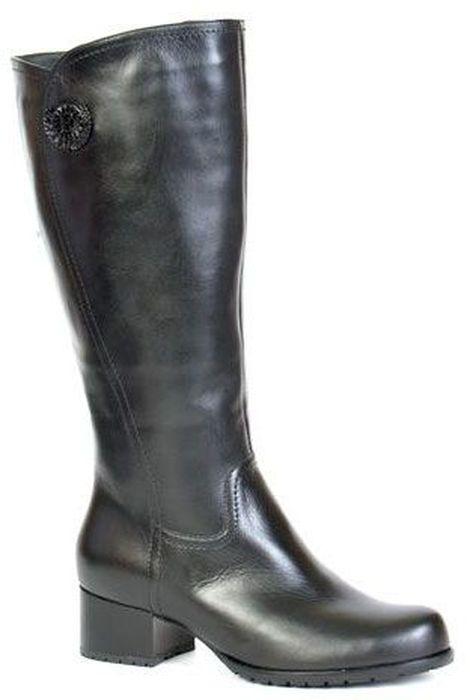 Сапоги женские Francesco Donni, цвет: черный. F1S4 HZ898-02F08. Размер 37F1S4 HZ898-02F08Стильные женские сапоги от Francesco Donni - незаменимая вещь в гардеробе истинной модницы. Модель изготовлена из высококачественной натуральной кожи и дополнена сбоку декоративным элементом. Сапоги застегиваются при помощи боковой застежки-молнии. Мягкая подкладка и стелька из байки невероятно комфортны при ходьбе. Подошва дополнена противоскользящим рифлением. Модные сапоги займут достойное место среди вашей коллекции обуви.