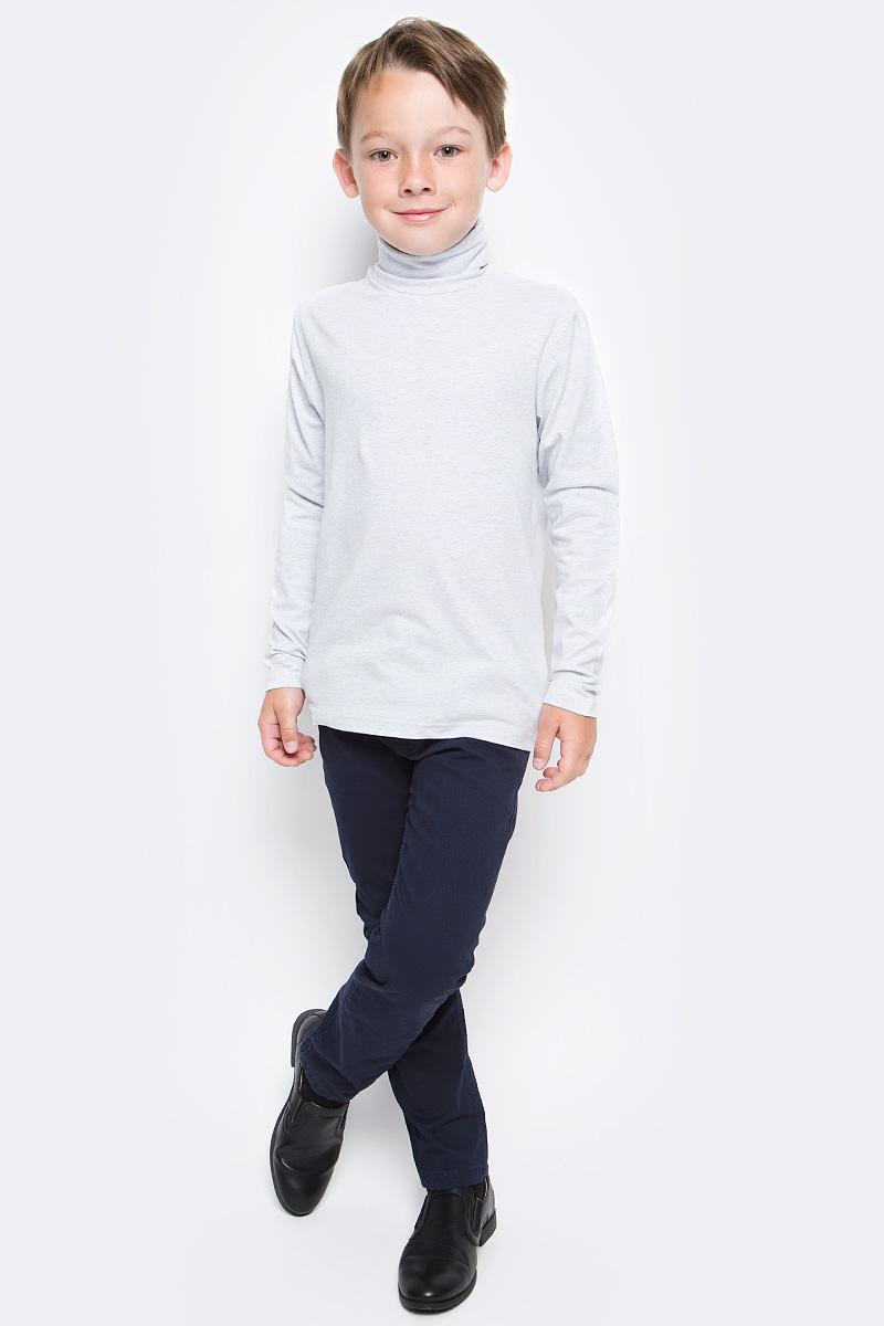 Водолазка для мальчика Luminoso, цвет: серый меланж. 727035. Размер 158727035Водолазка для мальчика Luminoso изготовлена из хлопка с добавлением эластана. Модель имеет длинные рукава и воротник-стойку. Выполнена в классическом дизайне.