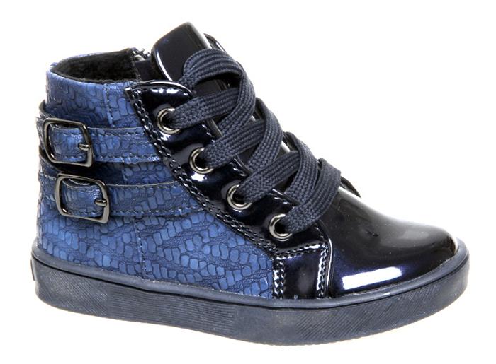 Ботинки для девочки Сказка, цвет: темно-синий. R209926163. Размер 22R209926163Ботинки для девочки Сказка выполнены из комбинированной натуральной и искусственной кожи. Модель на ноге фиксируется при помощи классической шнуровки и молнии. Подкладка и стелька из текстиля гарантируют комфорт при носке. Гибкая и мягкая резиновая подошва долговечна и обеспечивает высокую устойчивость к деформациям, амортизация обеспечит высокий комфорт во время ежедневного использования. Ботинки оформлены декоративными пряжками.
