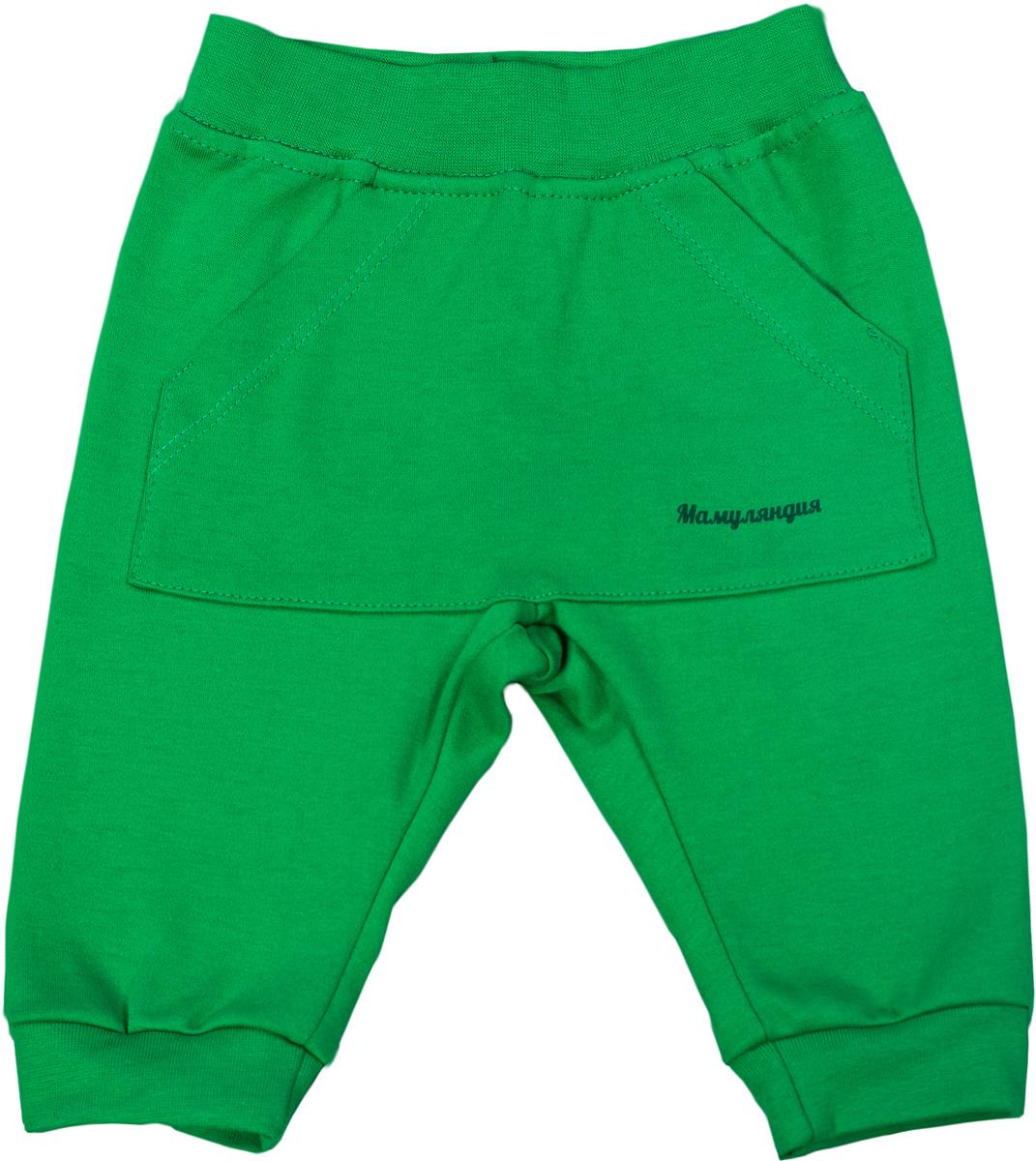 Брюки для мальчика Мамуляндия Мультяшки-Мальчики, цвет: зеленый. 17-714. Размер 8617-714Брюки для мальчика Мамуляндия Мультяшки-Мальчики выполнены из натурального хлопка. Модель декорирована карманом кенгуру.