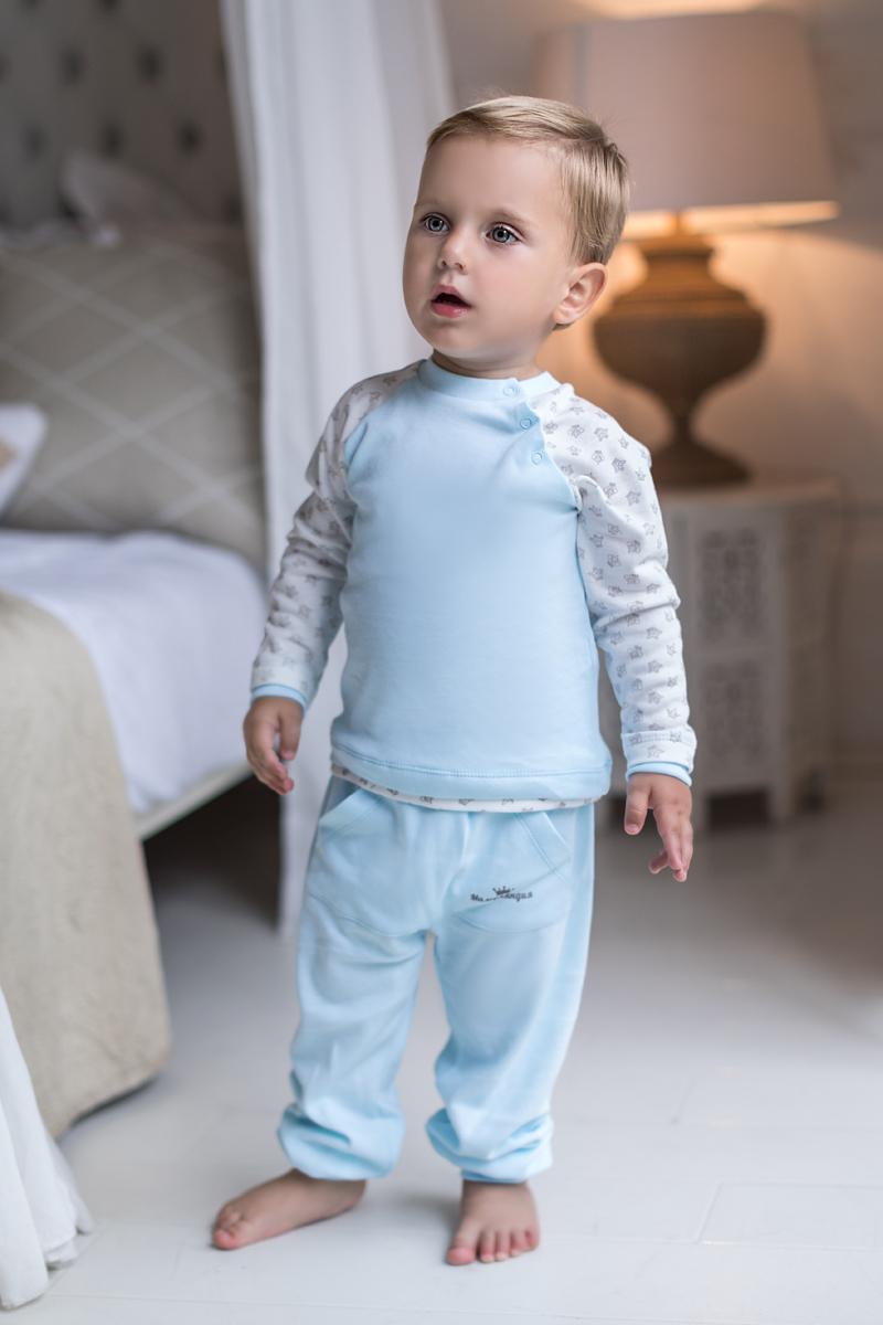 Кофточка для мальчика Мамуляндия Маленький принц, цвет: молочный, голубой. 17-317. Размер 7417-317Кофточка для мальчика Мамуляндия Маленький принц выполнена из натурального хлопка. Модель с круглым вырезом горловины и длинными рукавами-реглан имеет удобные застежки-кнопки по линии рукава. Изделие оформлено набивным рисунком.