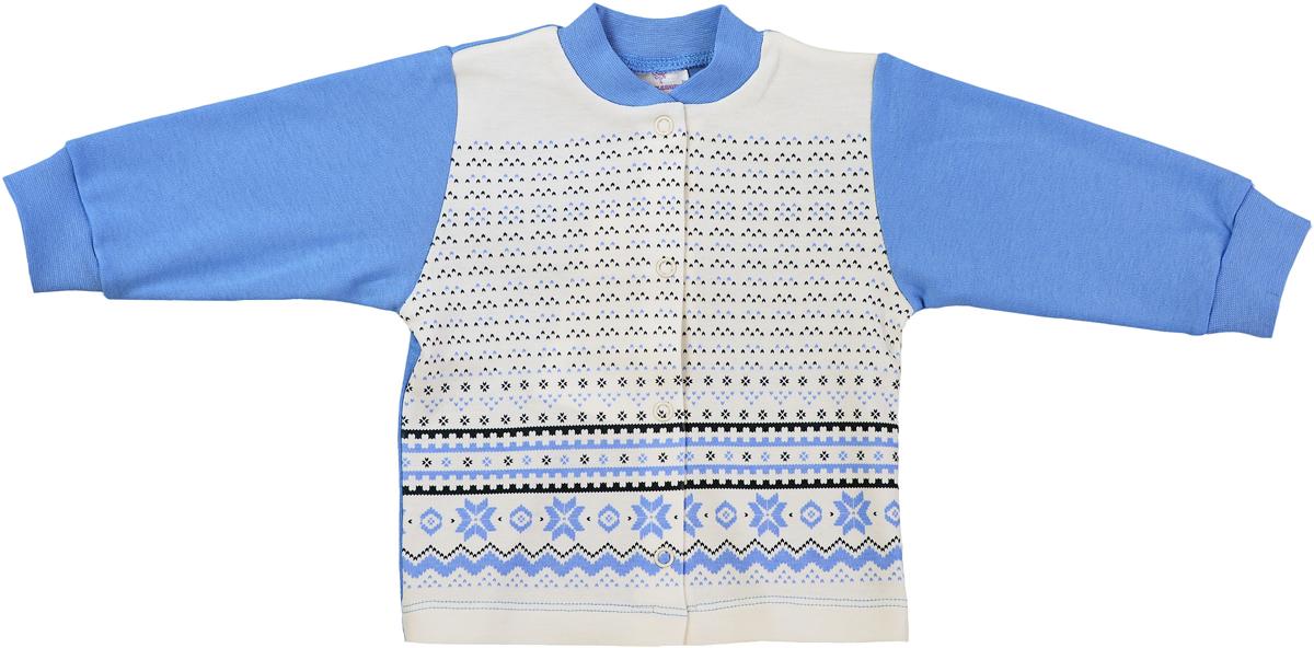Кофточка детская Мамуляндия Зимняя, цвет: молочный, голубой. 17-504. Размер 8617-504Кофточка детская Мамуляндия Зимняя выполнена из хлопка. Модель с длинными рукавами застегивается на кнопки.