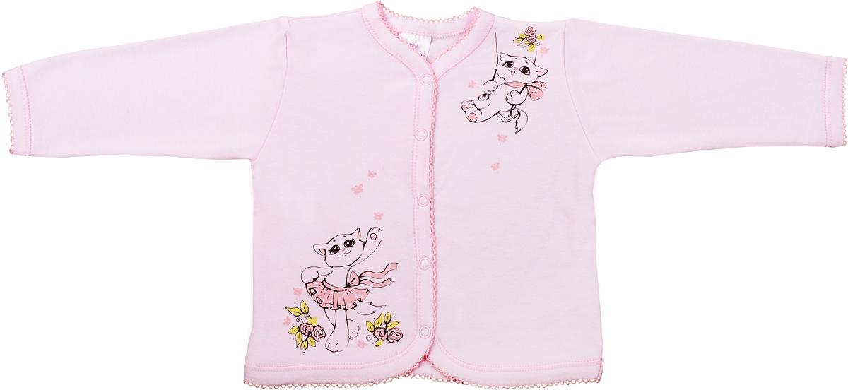 Кофта для девочки Мамуляндия Мультяшки-Девочки, цвет: розовый. 17-604-1. Размер 6217-604-1Кофта для девочки Мамуляндия Мультяшки-Девочки выполнена из натурального хлопка. Модель с длинными рукавами застегивается на кнопки.