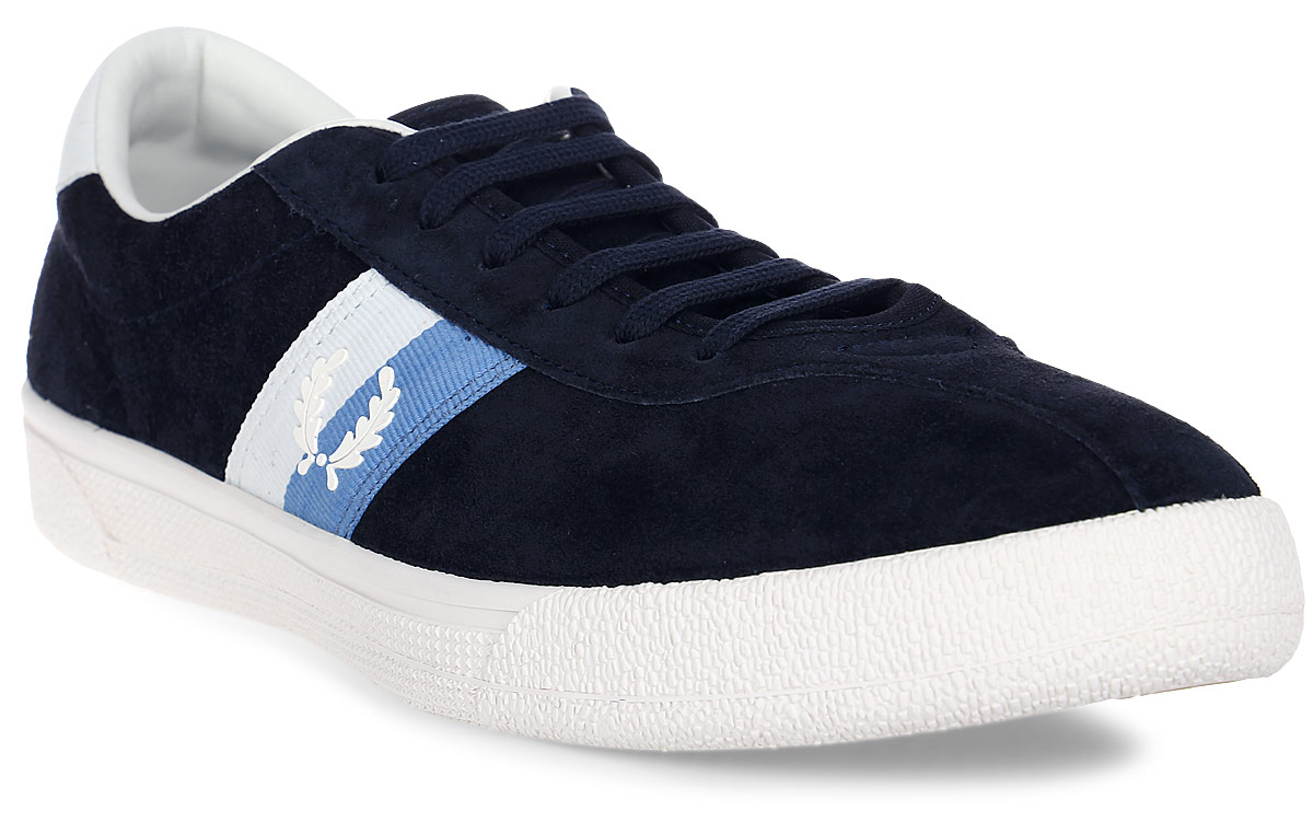 Кеды муж Fred Perry B1 Sports Authentic Tennis Shoe Suede, цвет: синий. B108-608. Размер 9 (42)B108-608