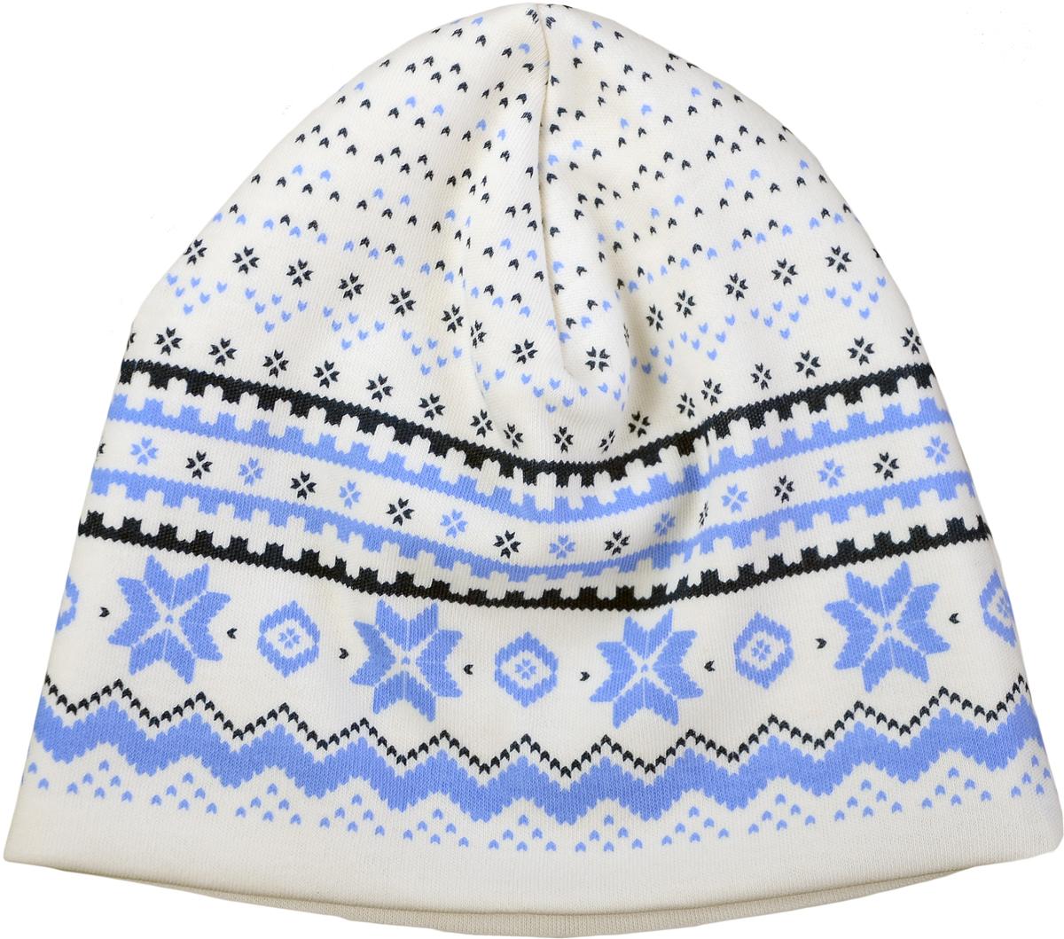 Шапка детская Мамуляндия Зимняя, цвет: молочный. 17-519. Размер 5017-519Детская шапка выполнена из натурального хлопка. Модель оформлена оригинальным принтом.