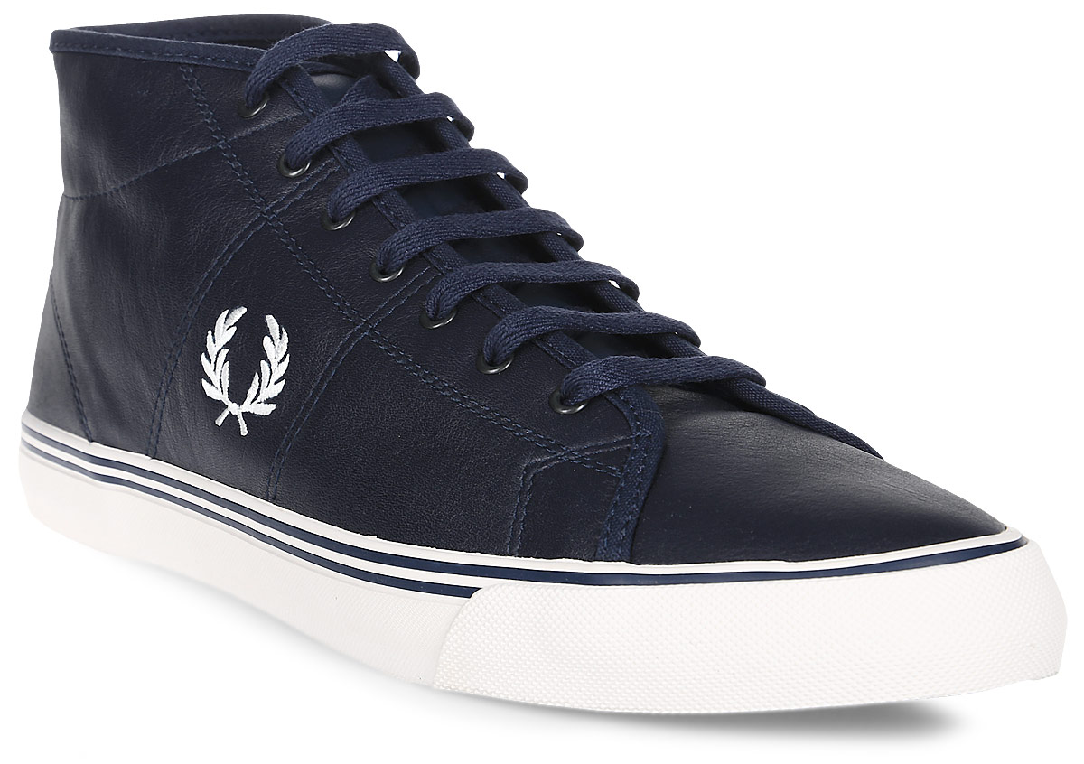 Кеды муж Fred Perry Haydon Mid Leather, цвет: синий. B2083-266. Размер 10 (44)B2083-266