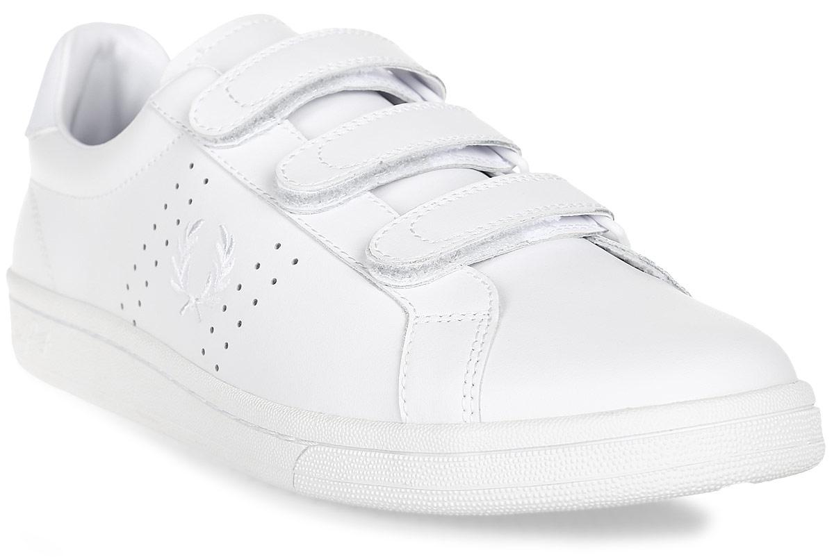 Кеды Fred Perry B721 Leather, цвет: белый. B2009-646. Размер 9,5 (42,5)B2009-646Стильные кеды B721 Leather от Fred Perry выполнены из натуральной кожи. Подкладка и стелька из текстиля комфортны при движении. Застежки-липучки надежно зафиксируют модель на ноге. Подошва дополнена рифлением. Кеды оформлены перфорацией и вышитым рисунком.