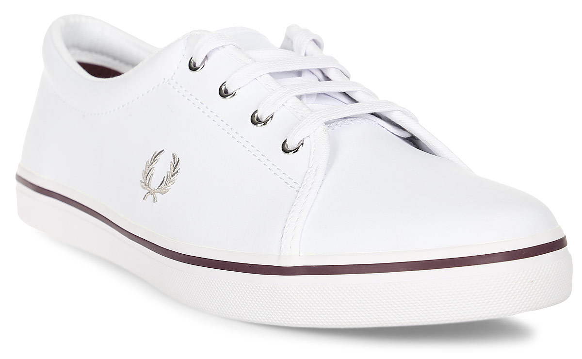 Кеды жен Fred Perry Aubyn Leather, цвет: белый. B2280W-100. Размер 6,5 (39)B2280W-100