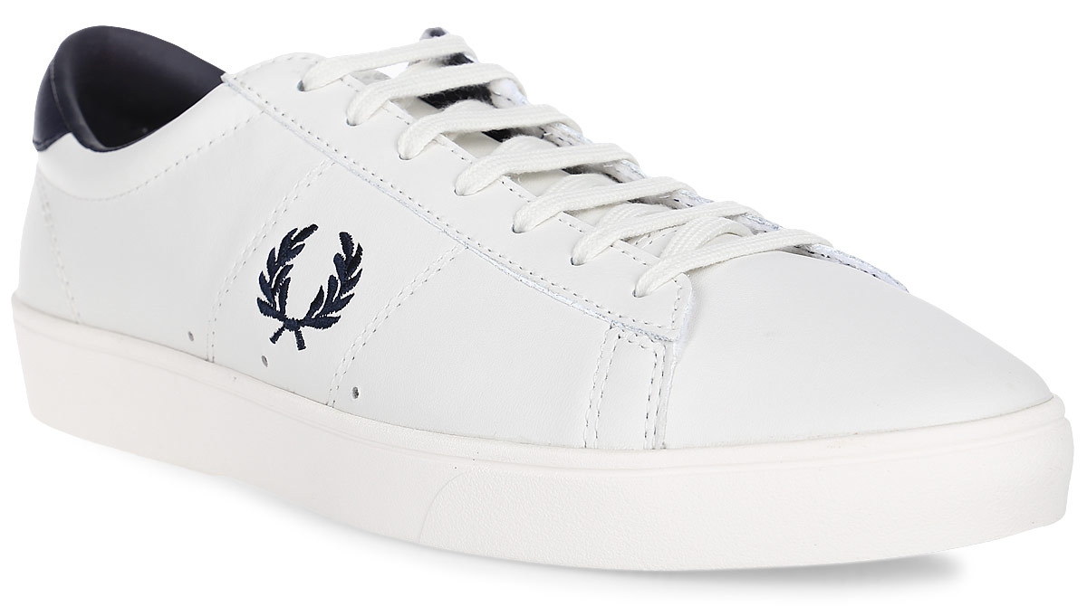 Кеды муж Fred Perry Spencer Leather, цвет: белый. B7521U-254. Размер 9,5 (43)B7521U-254