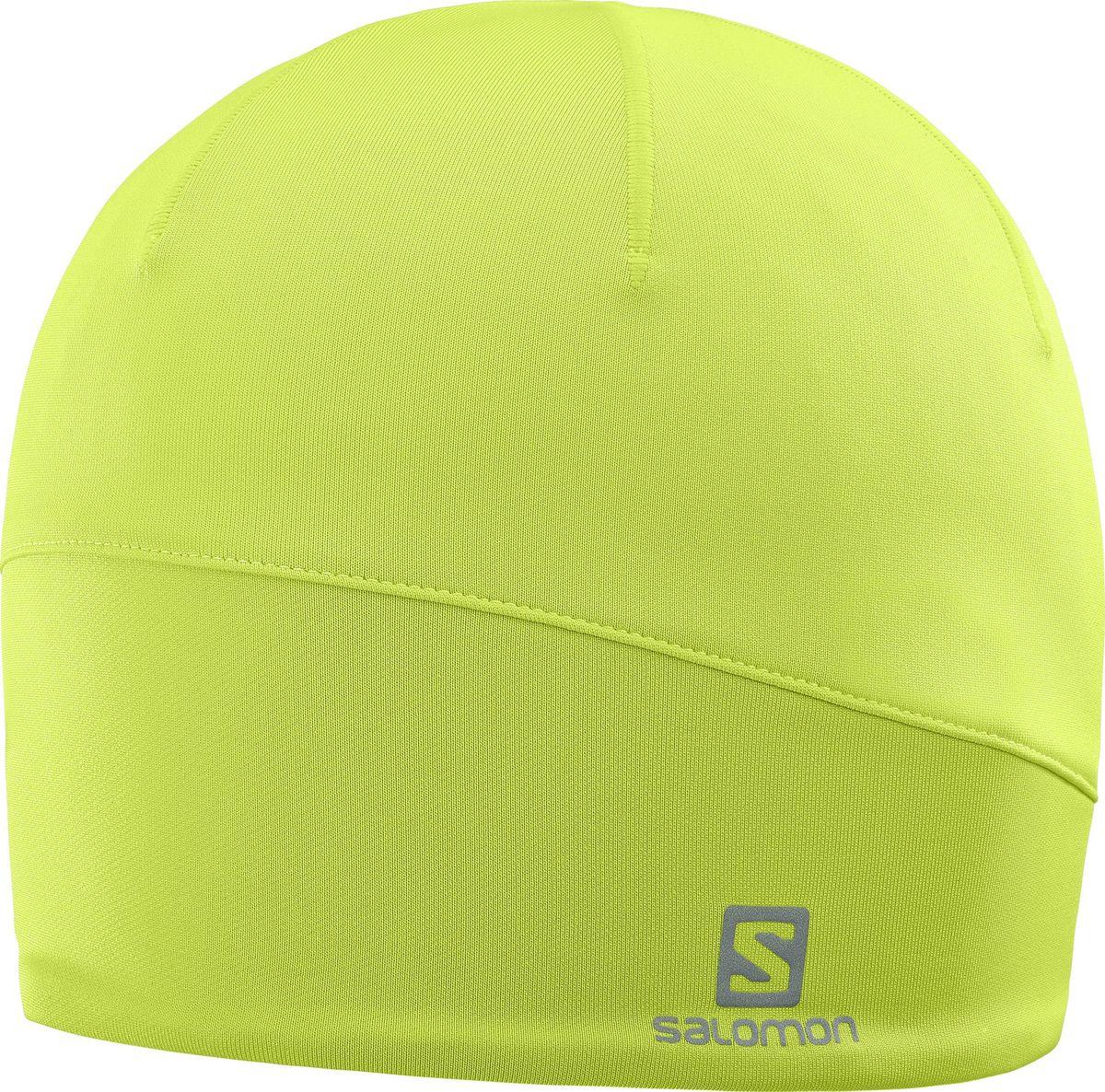 Шапка Salomon Active Beanie, цвет: зеленый. L39492200. Размер универсальныйL39492200Легкая, компактная и теплая шапка ACTIVE BEANIE из микрофлиса получила обновленный дизайн и светоотражающую отделку сзади.