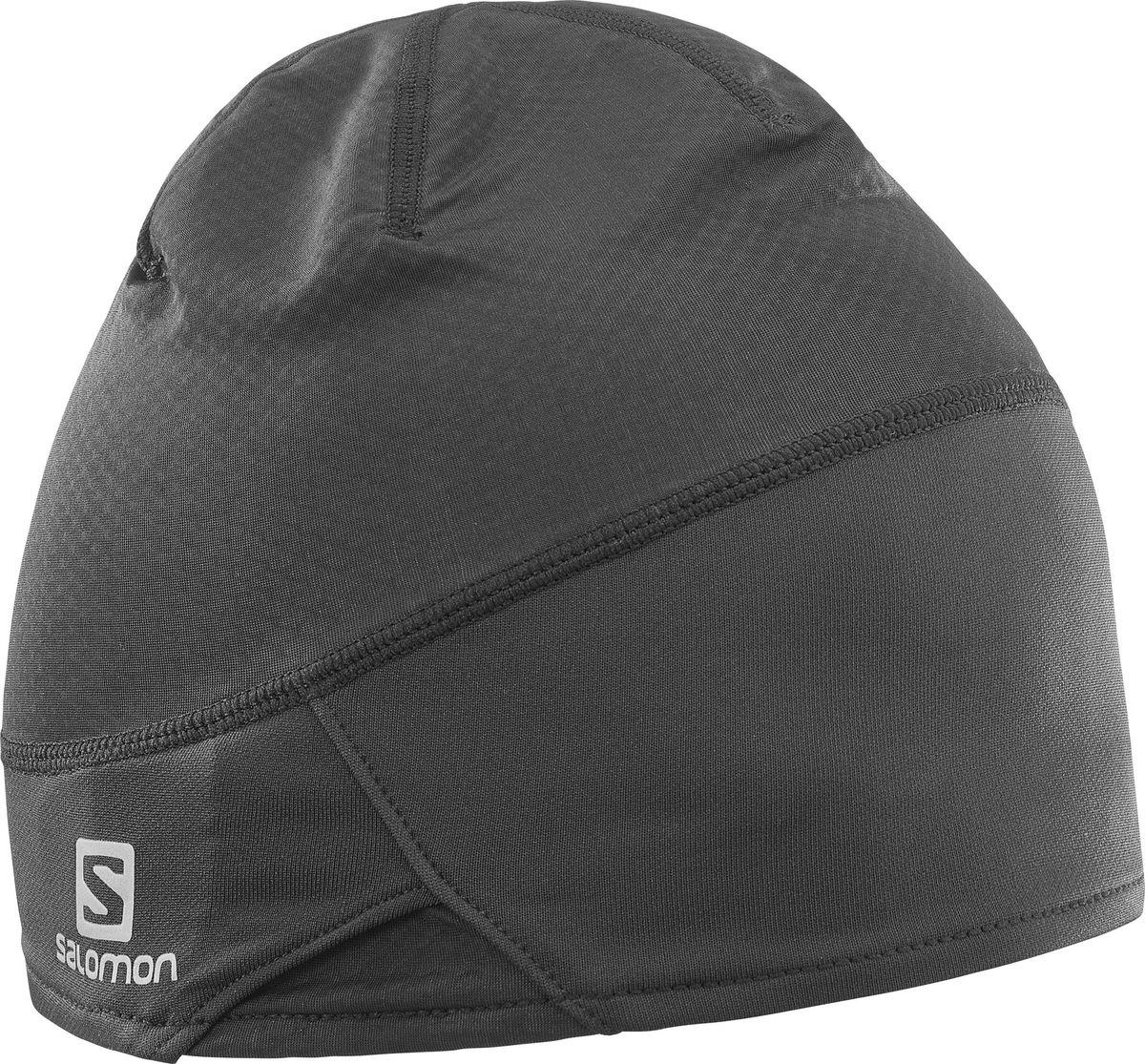 Шапка Salomon RS PRO Beanie, цвет: черный. L39491200. Размер L/XLL39491200Шапка RS PRO BEANIE подходит тем, кто всегда требует большего — не только от себя, но и от своей зимней экипировки. Легкий материал AdvancedSkin ActiveDry в сочетании со впитывающей банданой AdvancedSkin Warm защищает от пота, сохраняя сухость и комфорт во время гонки или интенсивной тренировки.