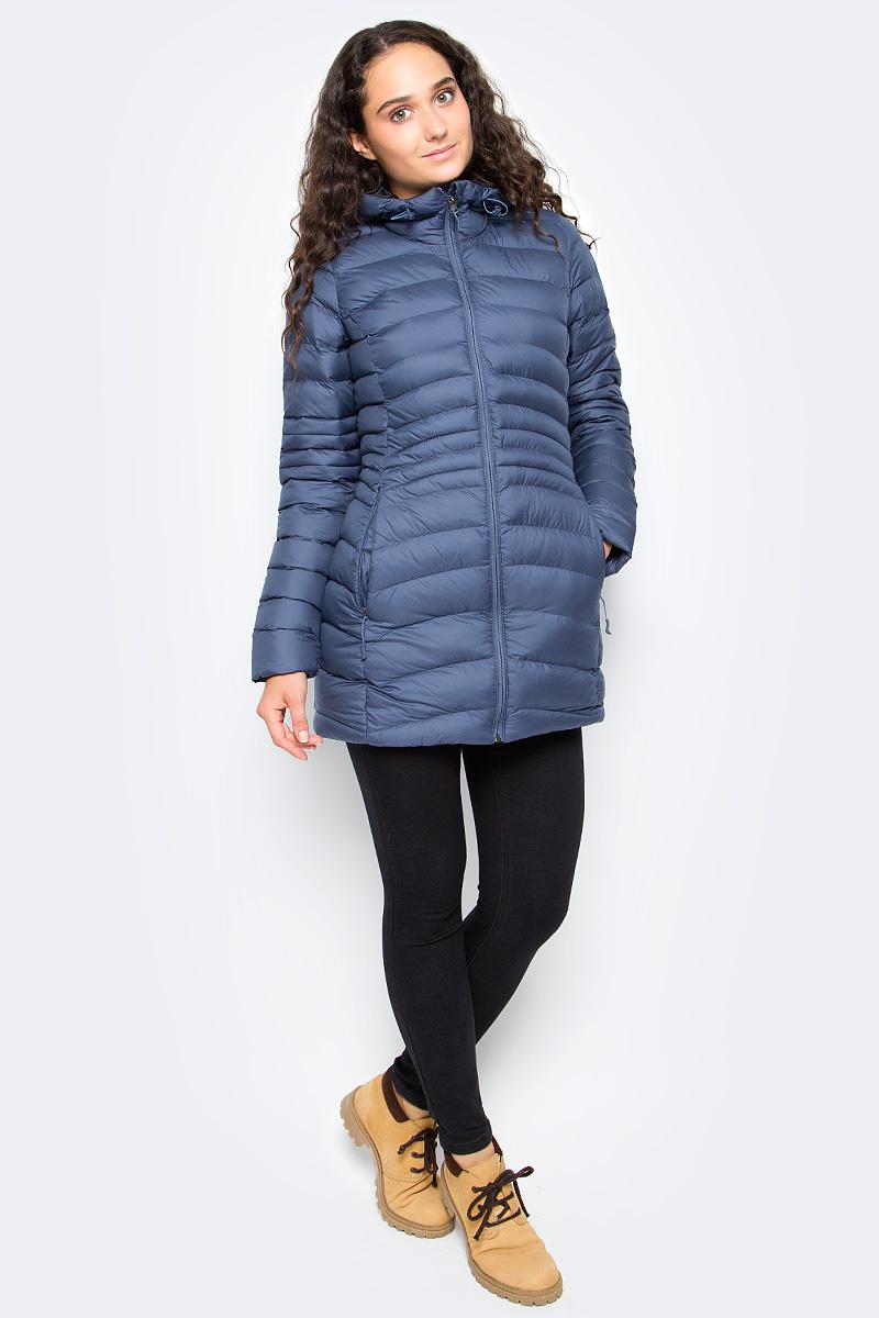 Куртка женская Reebok Od Dwnlk Prka, цвет: синий. BR0503. Размер M (46/48)BR0503Женская куртка Reebok выполнена из водонепроницаемой и дышащей ткани - высококачественного полиэстера. В качестве наполнителя используется 100% полиэстер. Модель с капюшоном застегивается на застежку-молнию. Изделие оснащено двумя прорезными карманами на застежках-молниях. Объем капюшона регулируется при помощи эластичного шнурка со стопперами. Куртка дополнена светоотражающими элементами.