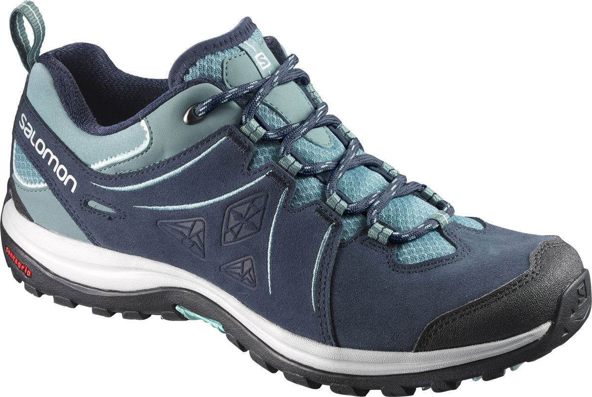 Кроссовки женские Salomon Ellipse 2 LTR W, цвет: серый. L39854000. Размер 6,5 (38,5)L39854000С женской версией Ellipse 2 LTR вы станете суперженщиной в любых походах, буквально летя вперед по тропе. Никакого криптонита: Ellipse всего лишь сочетают особую посадку и конструкцию для женской ноги со стильным и прочным верхом, который выстоит на самых агрессивных тропах.