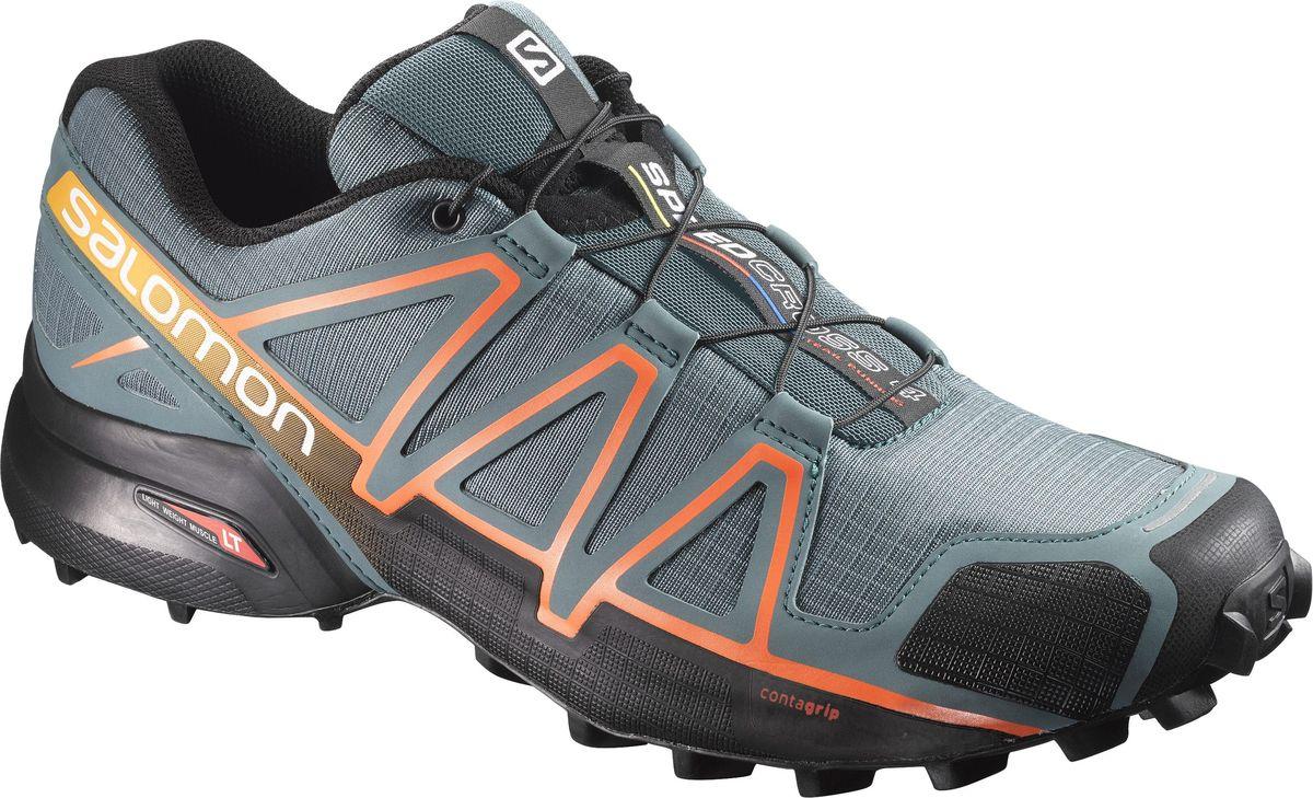 Кроссовки мужские Salomon Speedcross 4, цвет: серый. L39841900. Размер 8 (40,5)L39841900Четвертое поколение легендарных беговых кроссовок воплощает новые понятия об элегантности. Легкие, амортизированные и агрессивно цепляющиеся за мягкую землю Speedcross 4 подарят вам еще больше удовольствия.