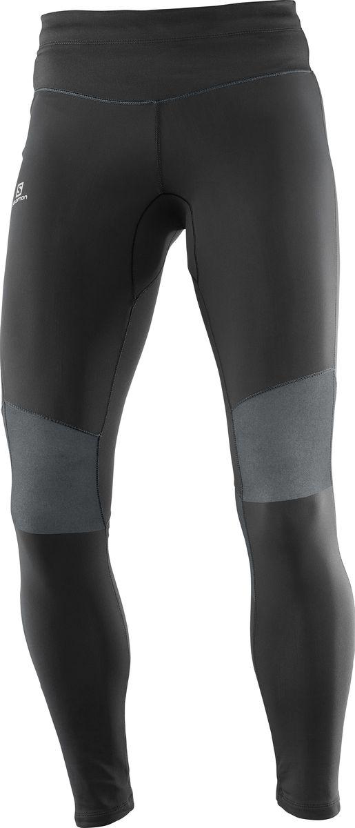 Тайтсы женские Salomon Elevate Long Tight, цвет: черный. L39799900. Размер M (44/46)L39799900Облегающие брюки ELEVATE WARM TIGHT из чистого ворсованного трикотажа дарят комфорт и дышащее тепло при беге в прохладную погоду. Благодаря светоотражающему логотипу спортсмена лучше видно в темное время суток.