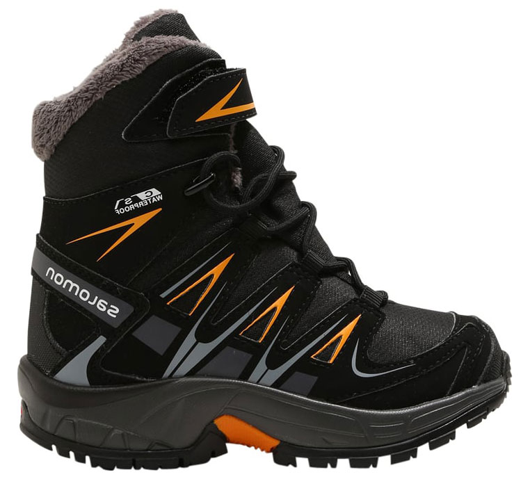 Ботинки детские Salomon XA PRO 3D Winter TS CSWP J, цвет: черный. L39845900. Размер 28 (26,5)L39845900Детская версия легендарной модели ботинок XA PRO 3D в зимнем варианте: тепло, непромокаемая защита и выдающееся сцепление на мокрой и сухой поверхности.