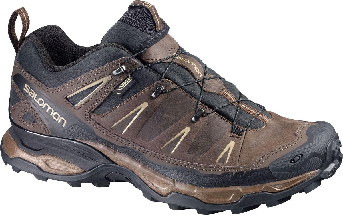Ботинки мужские Salomon X Ultra LTR GTX, цвет: черный. L36699600. Размер 11,5 (45)L36699600Обтекаемый стиль X Ultra LTR GTX воплощает скорость, с которой вы покорите любые тропы. Беговые технологии, кожаный верх премиум-качества и водонепроницаемая мембрана Gore-Tex — эти облегченные ботинки обожают движение в любое время года.