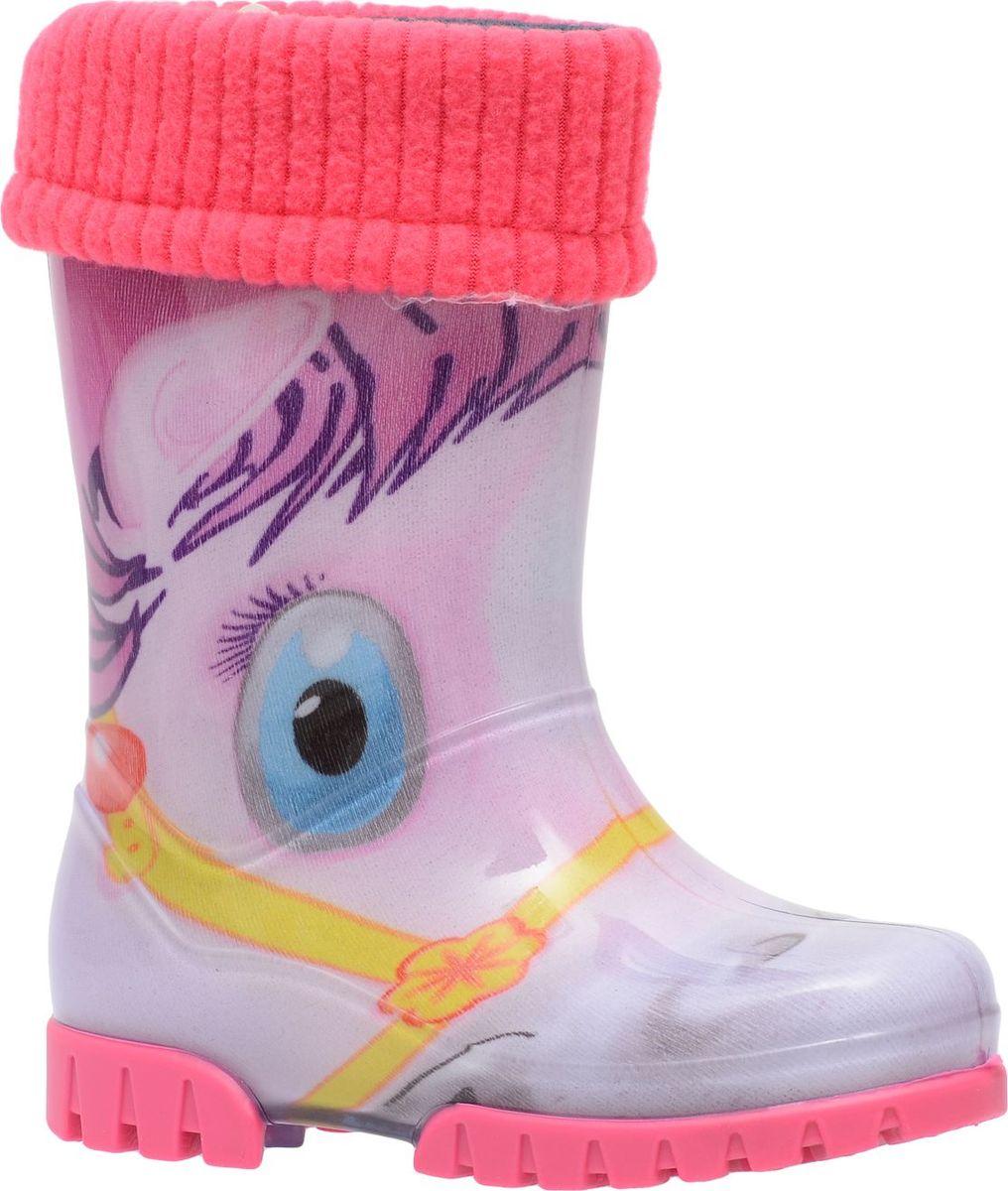 Резиновые сапоги для девочки Demar, цвет: розовый, мультиколор. 0038 HA. Размер 22/230038 HAРезиновые сапоги Demar придутся по душе вам и вашему ребенку! Модель изготовлена из качественной резины и оформлена ярким рисунком. Главным преимуществом резиновых сапожек является наличие съемного текстильного чулка, который можно вынуть и легко просушить. Подошва с рифлением обеспечивает идеальное сцепление с любыми поверхностями. Такие чудесные сапожки займут достойное место в гардеробе вашего ребенка.