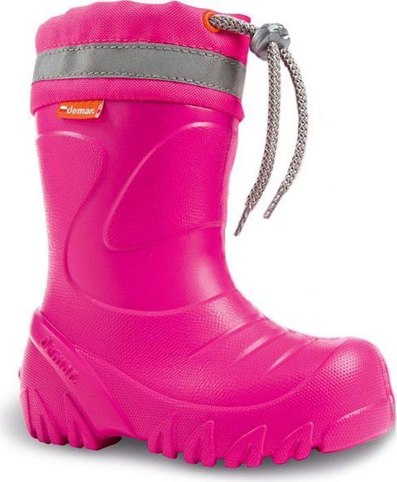 Резиновые сапоги для девочки Demar, цвет: розовый. 0300 F. Размер 32/330300 FРезиновые сапоги Demar придутся по душе вам и вашему ребенку! Модель изготовлена из качественной резины. Текстильный верх голенища, дополненный светоотражающей полосой, регулируется в объеме за счет шнурка со стоппером. Главным преимуществом резиновых сапожек является наличие съемного чулка, выполненного из шерсти, который можно вынуть и легко просушить. Подошва с рифлением обеспечивает идеальное сцепление с любыми поверхностями. Такие чудесные сапожки займут достойное место в гардеробе вашего ребенка.
