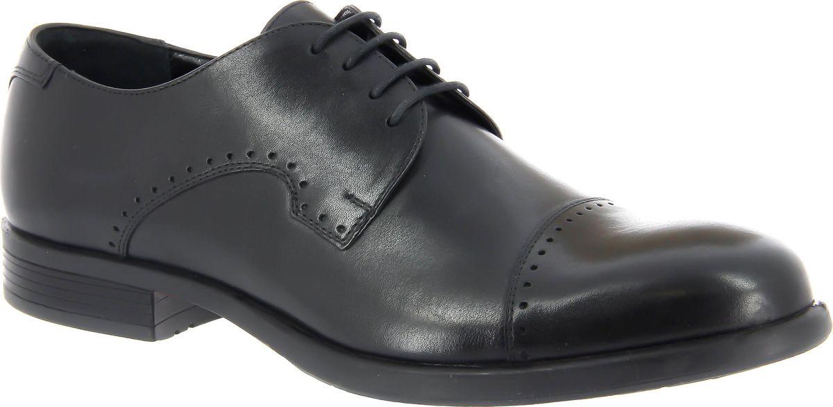 Туфли мужские Ralf Ringer Sten, цвет: черный. 465105ЧН. Размер 44465105ЧНЭти мужские туфли отлично впишутся в комплекты с джинсами или брюками направления Casual. Модель декорирована оригинальной прострочкой. Длина шнуровки позволяет регулировать плотность прилегания по желанию. Массивная подошва подчеркивает стремительный характер модели. Кожаная подкладка обеспечивает комфорт при длительной носке.