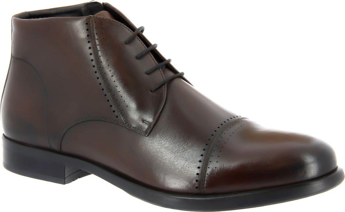 Ботинки мужские Ralf Ringer Steel, цвет: темно-коричневый. 487303ТК. Размер 41487303ТККожаные ботинки - отличная находка для любителей Must-Have вещей. Такая обувь в тренде уже на протяжении нескольких сезонов. Данная модель поможет создать идеальный городской образ для посиделок с друзьями или длительных прогулок. Гибкая противоскользящая подошва обеспечивает дополнительный комфорт во время носки. Подкладка из натурального меха подарит тепло вашим ногам в период зимних холодов.
