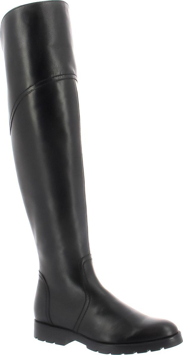 Ботфорты женские Ralf Ringer Runa, цвет: черный. 916404ЧН. Размер 40916404ЧНИзящные и стильные ботфорты из натуральной кожи на небольшом удобном каблуке – комфортный и практичный демисезонный вариант. Текстильная подкладка делает сапоги подходящими для осеннего периода. Сапоги визуально вытягивают и сужают ногу, а в меру массивная подошва придает образу экстравагантности.