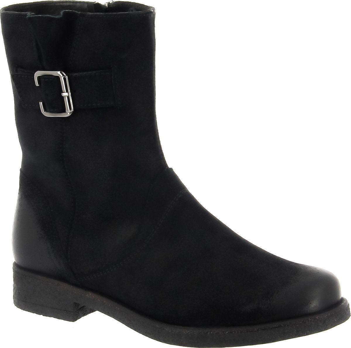 Полусапоги женские Ralf Ringer Alva, цвет: черный. 945207ЧВ. Размер 39945207ЧВУдобные практичные полусапоги идеальны в повседневной носке. Обувь отлично садится по ноге. Верх из спилка выглядит дорого и стильно, ведь материал напоминает велюр, но более долговечен. Высокая подошва защищает ноги от холода и промокания. Невысокий каблук поддерживает стопу в оптимальном положении, снимая напряжение и предотвращая появление боли в ногах даже после длительных прогулок.