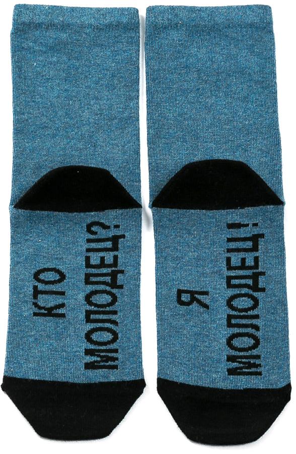 Носки женские Mark Formelle, цвет: синий, черный. 211K-509. Размер 23211K-509