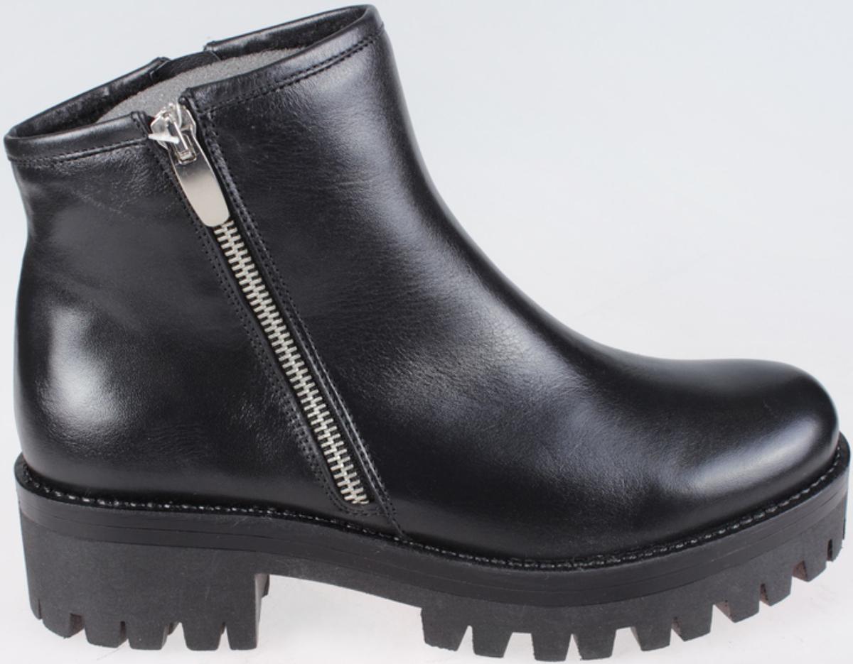 Ботинки женские El Tempo, цвет: черный. EMA13_7996_BLACK. Размер 41EMA13_7996_BLACKМодные ботинки El Tempo займут достойное место в вашем гардеробе. Модель выполнена из натуральной кожи. Ботинки застегиваются на боковую застежку-молнию. Модные ботинки - незаменимая вещь в гардеробе любой женщины.