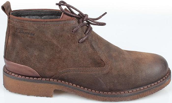 Ботинки мужские El Tempo, цвет: темно-коричневый. PP267_6319_D.BROWN. Размер 40PP267_6319_D.BROWNМужские ботинки El Tempo выполнены из натуральной кожи. Модель на шнуровке. Подкладка и стелька изготовлены из натуральной шерсти. Подошва из прочной резины оснащена рифлением.
