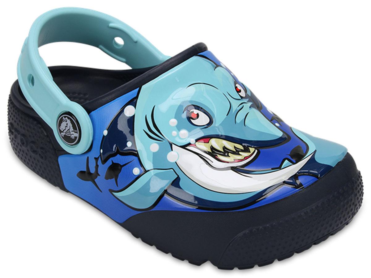 Сабо детские Crocs FunLab Lights, цвет: темно-синий. 204133-92G. Размер J3 (34/35)204133-92G