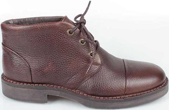 Ботинки мужские El Tempo, цвет: темно-коричневый. PP305_6416_D.BROWN. Размер 39PP305_6416_D.BROWNМужские ботинки El Tempo выполнены из натуральной кожи. Модель на шнуровке. Подкладка и стелька изготовлены из натуральной шерсти. Подошва из прочной резины оснащена рифлением.