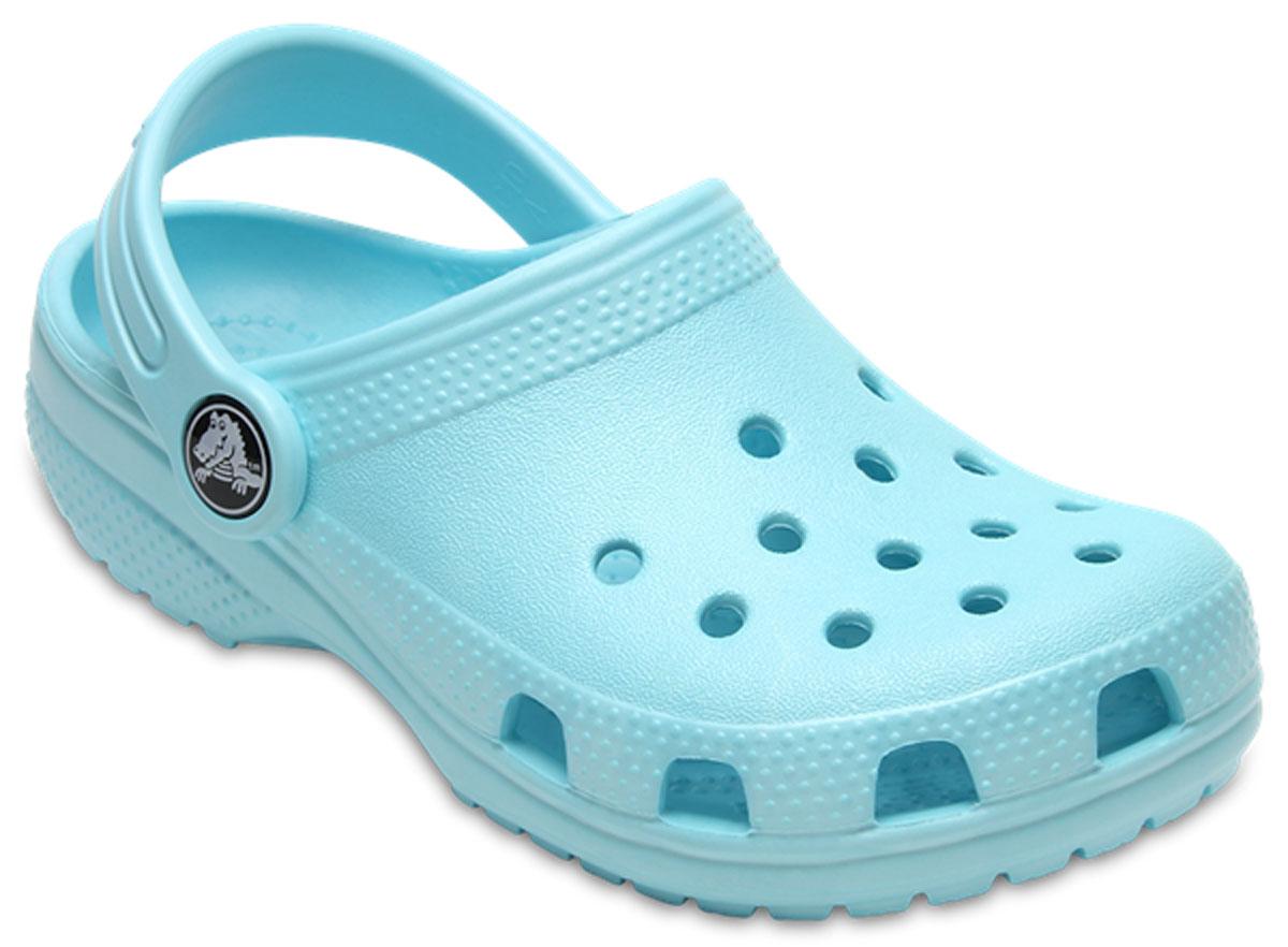 Сабо детские Crocs Classic Clog K, цвет: голубой. 204536-4O9. Размер J1 (31/32)204536-4O9