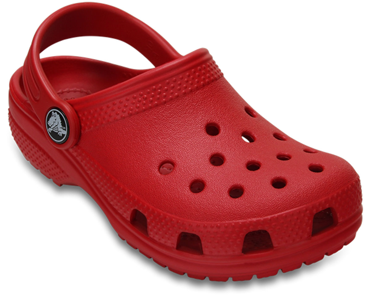 Сабо детские Crocs Classic Clog K, цвет: красный. 204536-6EN. Размер C8 (25)204536-6EN