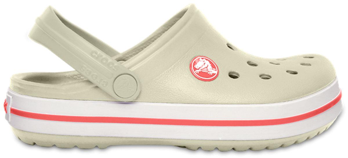 Сабо детские Crocs Crocband Clog K, цвет: бежевый. 204537-1AS. Размер J1 (31/32)204537-1ASСабо Crocs придутся вашему ребенку по душе. Рифленое основание подошвы гарантирует идеальное сцепление с любой поверхностью. Такие сабо - отличное решение для каждодневного использования!