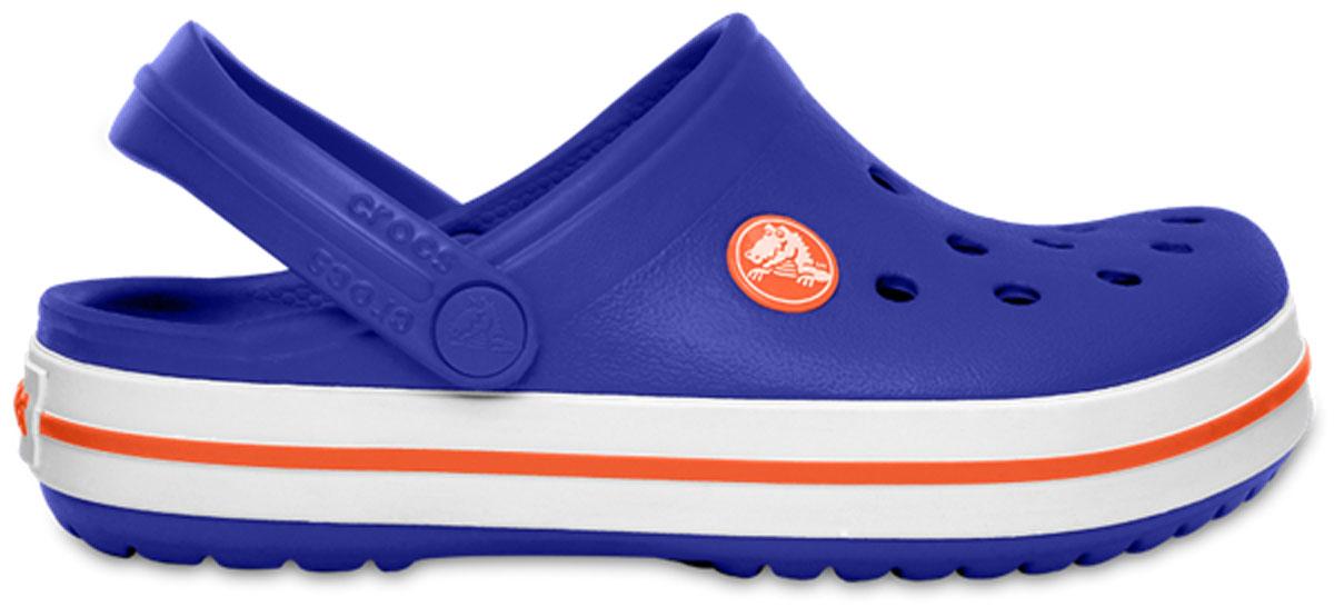 Сабо детские Crocs Crocband Clog K, цвет: синий. 204537-4O5. Размер C10 (27)204537-4O5Сабо Crocs придутся вашему ребенку по душе. Рифленое основание подошвы гарантирует идеальное сцепление с любой поверхностью. Такие сабо - отличное решение для каждодневного использования!