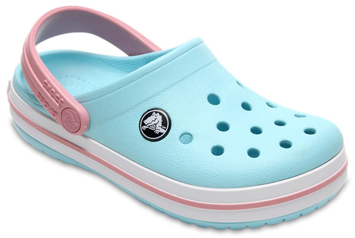 Сабо детские Crocs Crocband Clog K, цвет: голубой. 204537-4S3. Размер C6 (23)204537-4S3Сабо Crocs придутся вашему ребенку по душе. Рифленое основание подошвы гарантирует идеальное сцепление с любой поверхностью. Такие сабо - отличное решение для каждодневного использования!