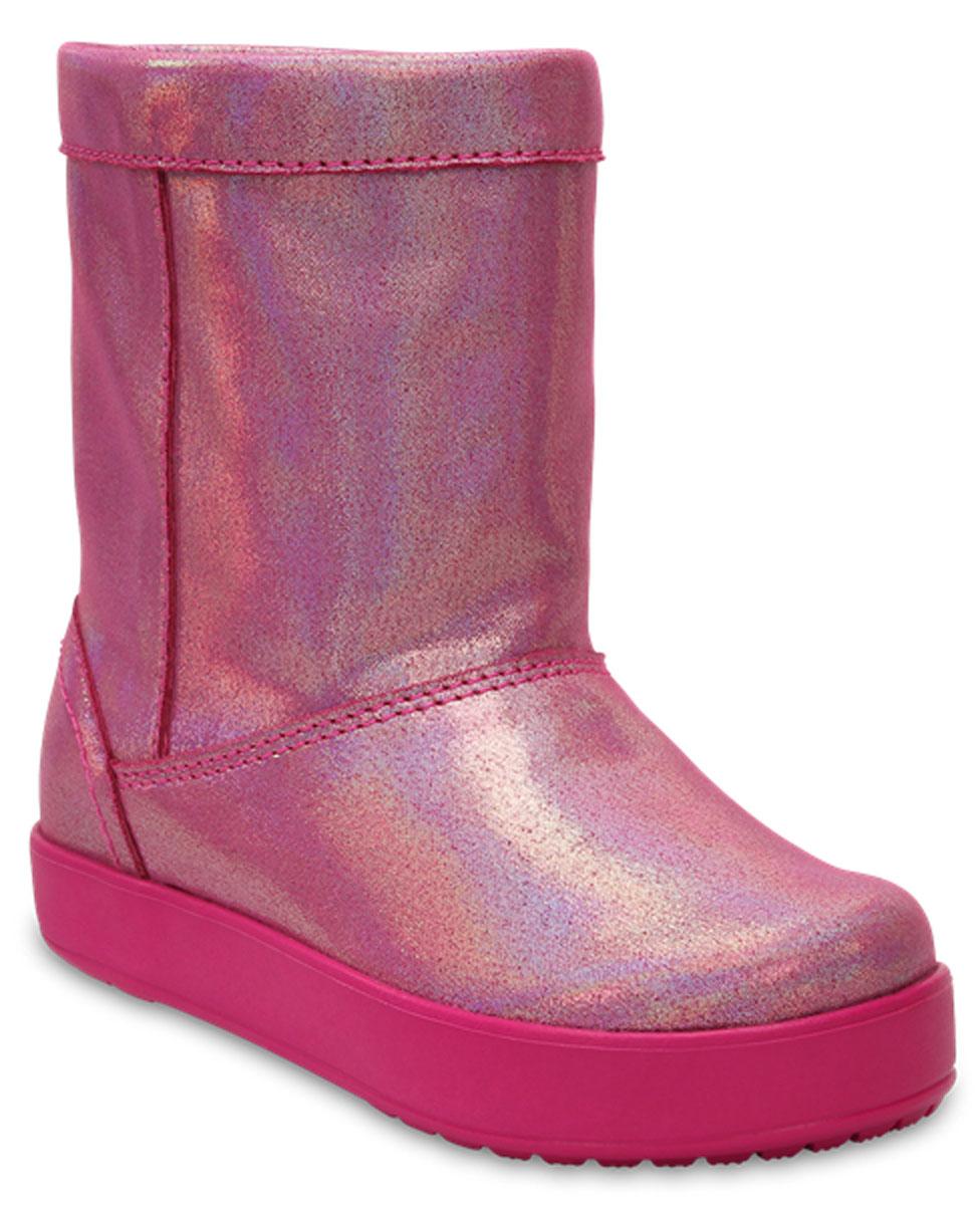 Сапоги для девочки Crocs LodgePoint Novelty Boot K, цвет: розовый. 204661-6X0. Размер C13 (30)204661-6X0Сапоги для девочки Crocs LodgePoint Novelty Boot K выполнены из высококачественного материала. Рифление на подошве гарантирует идеальное сцепление с любой поверхностью. Такие сапоги - отличное решение для каждодневного использования!