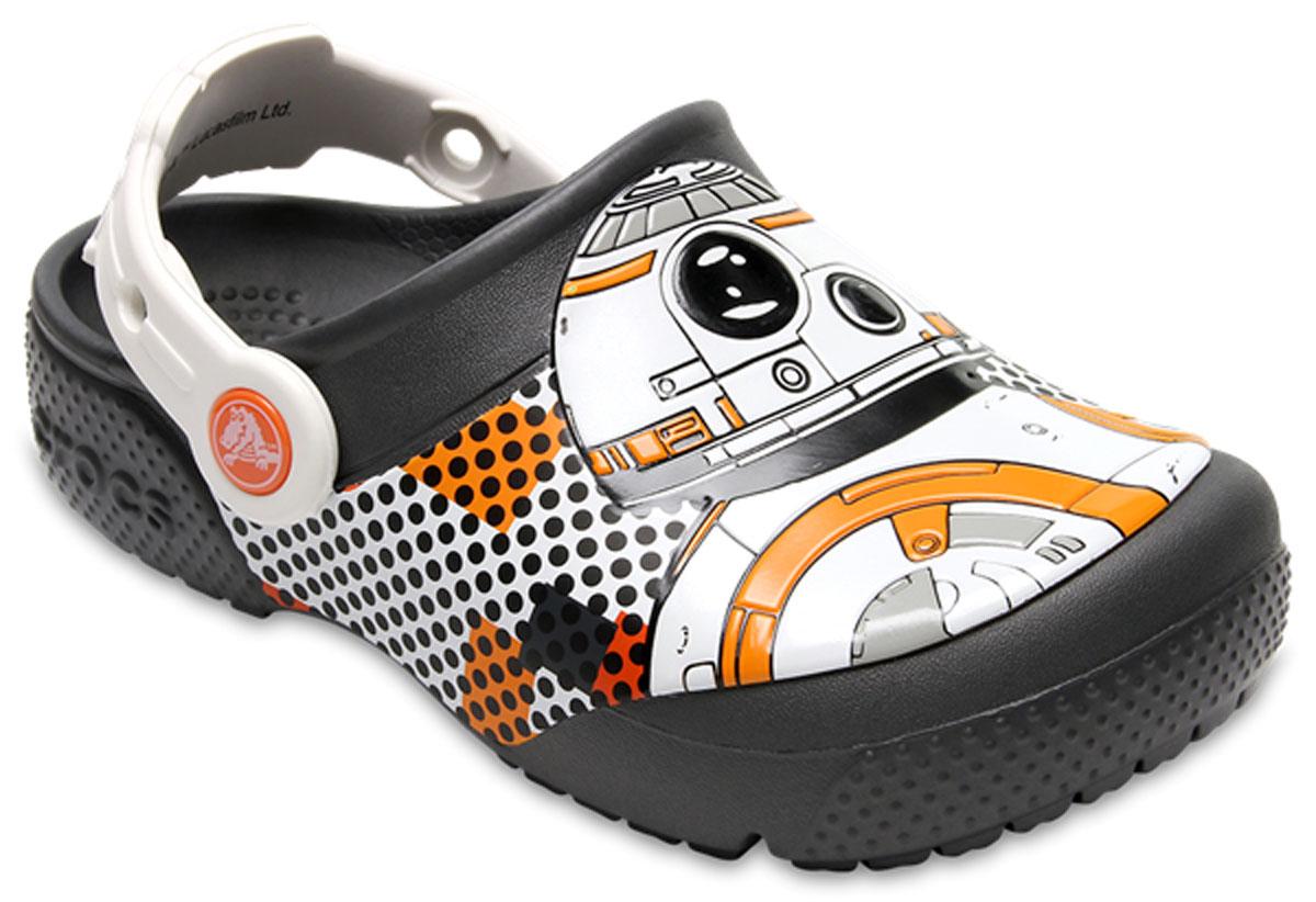 Сабо для мальчика Crocs FunLab BB-8 Clog, цвет: серый. 204716-014. Размер C6 (23)204716-014