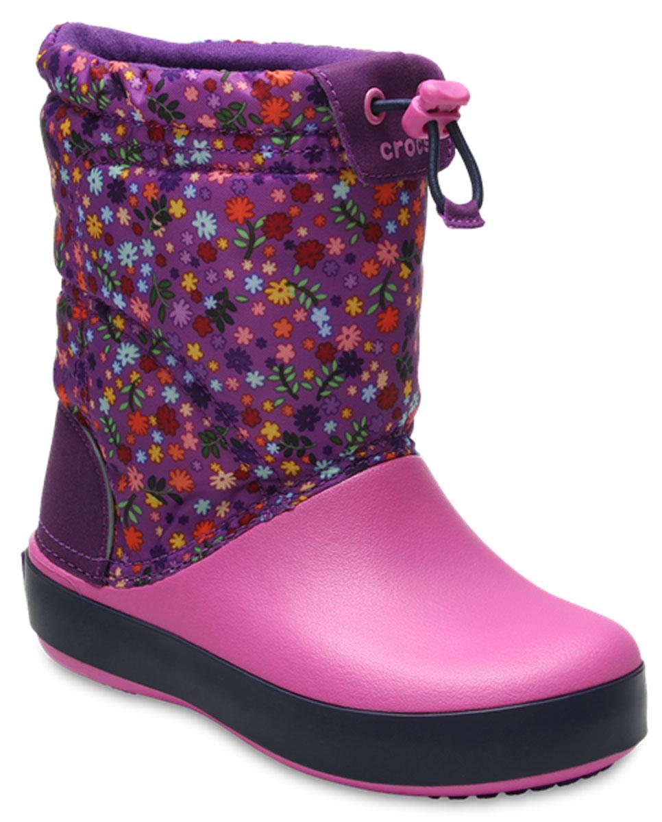 Сапоги резиновые детские Crocs Crocband LodgePoint Graphic K, цвет: розовый. 204829-5N9. Размер C11 (28)204829-5N9Детские резиновые сапоги Crocs Crocband LodgePoint Graphic K - идеальная обувь в холодную дождливую погоду для вашего ребенка. Сапоги выполнены из качественной резины и текстиля. Подкладка и стелька из текстиля обеспечивают комфорт. Подошва дополнена рифлением.