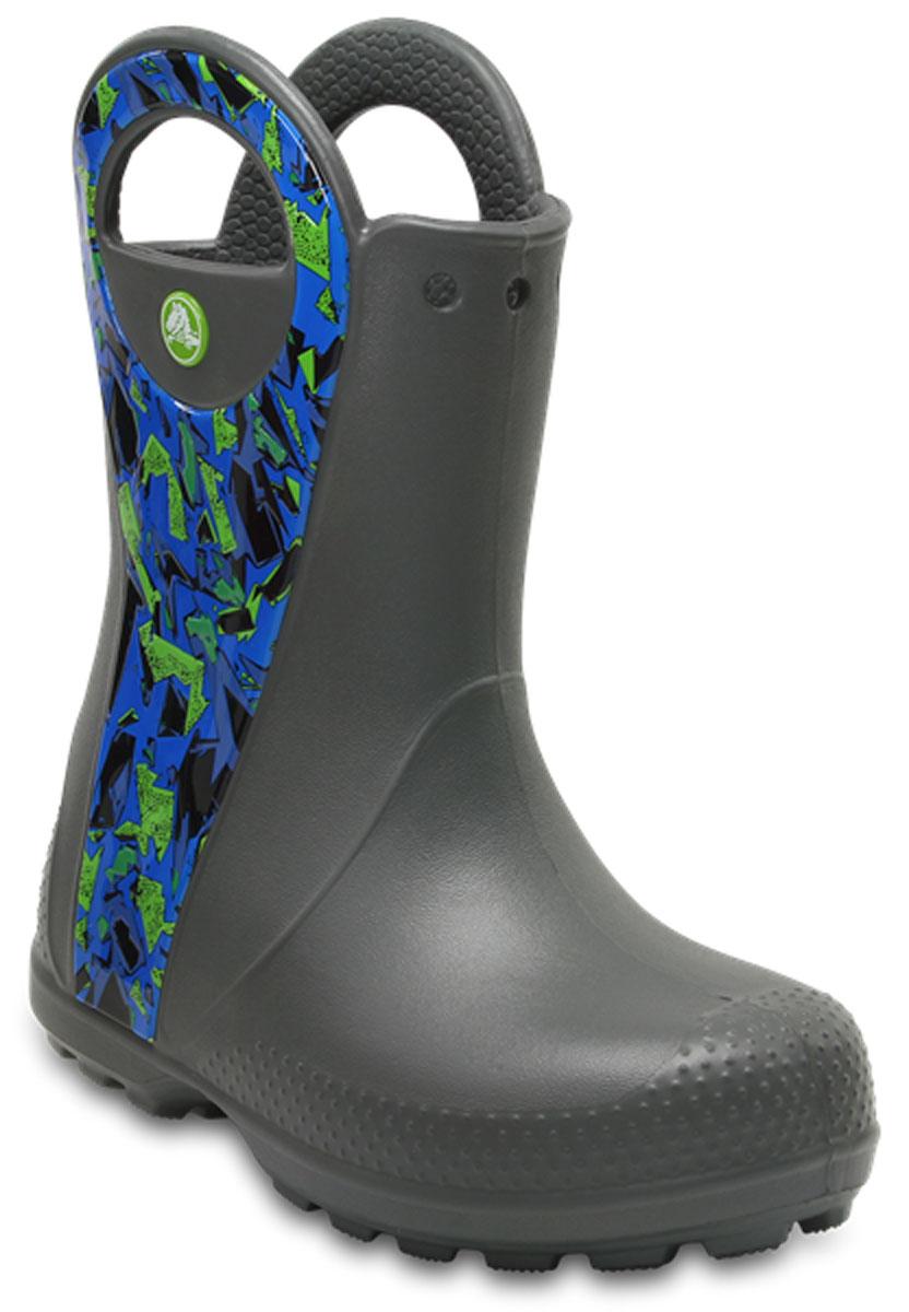 Сапоги детские Crocs Handle It Graphic Boot K, цвет: серый. 204839-0DA. Размер C12 (29)204839-0DA
