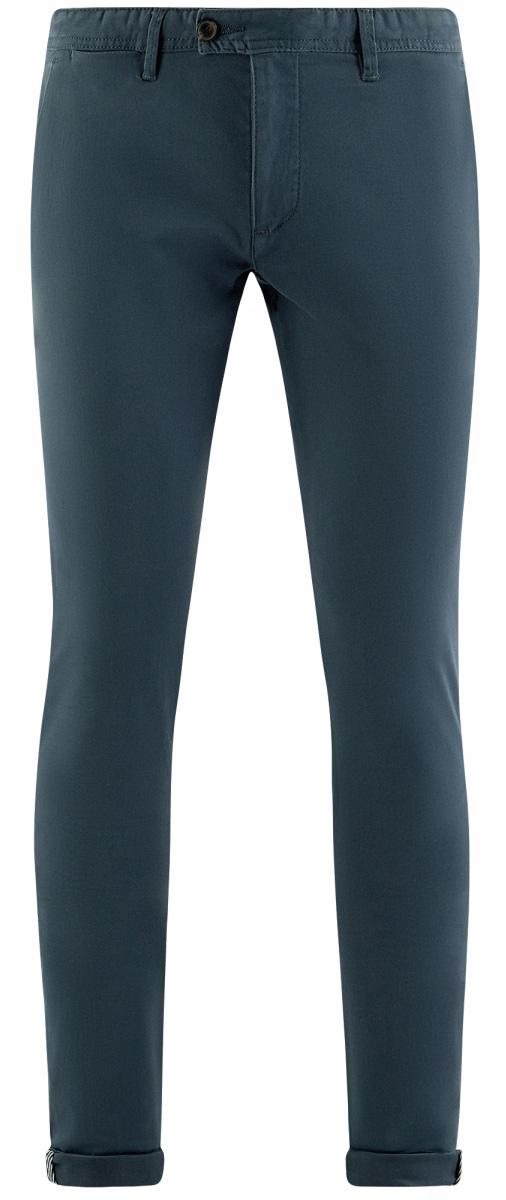 Брюки мужские oodji Lab, цвет: синий. 2L150106M/47064N/7500N. Размер 46 (54-182)2L150106M/47064N/7500NХлопковые брюки-чиносы зауженного кроя. На поясе шлевки для удобной фиксации ремня. Брюки из хлопковой ткани удобны в ношении, не стесняют движений и приятны для тела. Ткань дышит, не вызывает раздражений. В таких брюках комфортно ходить в жаркую погоду. Стильные зауженные брюки-чиносы прекрасно подойдут для повседневных и деловых комплектов. В них можно пойти в офис, на учебу или свидание, отправиться на прогулку по городу или по делам. Такие брюки будут незаменимы, если вы хотите создать элегантный и сдержанный образ. Они хорошо сочетаются с разными предметами мужского гардероба: рубашками, футболками-поло. Сверху комплект с брюками можно дополнить ветровкой, спортивным пиджаком или легким трикотажным кардиганом. В этих брюках вы будете чувствовать себя комфортно и непринужденно в разных ситуациях!