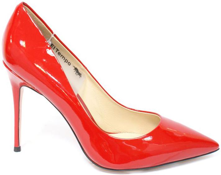 Туфли женские El Tempo, цвет: красный. CRH28_231-1-16_RED. Размер 36CRH28_231-1-16_REDЭлегантные женские туфли от El Tempo изготовлены из натуральной кожи и исполнены в лаконичном стиле. Внутренняя поверхность и стелька из мягкой натуральной кожи обеспечивают комфорт при ходьбе. Заостренный носок и высокий каблук-шпилька завершают композицию.