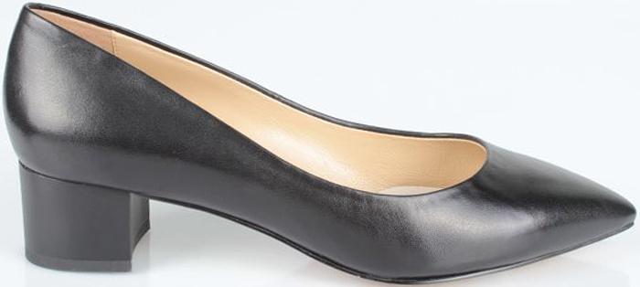 Туфли женские El Tempo, цвет: черный. CRH55_617A-10-9_BLACK. Размер 40CRH55_617A-10-9_BLACKЭлегантные женские туфли от El Tempo изготовлены из натуральной кожи и исполнены в лаконичном стиле. Внутренняя поверхность и стелька из мягкой натуральной кожи обеспечивают комфорт при ходьбе.