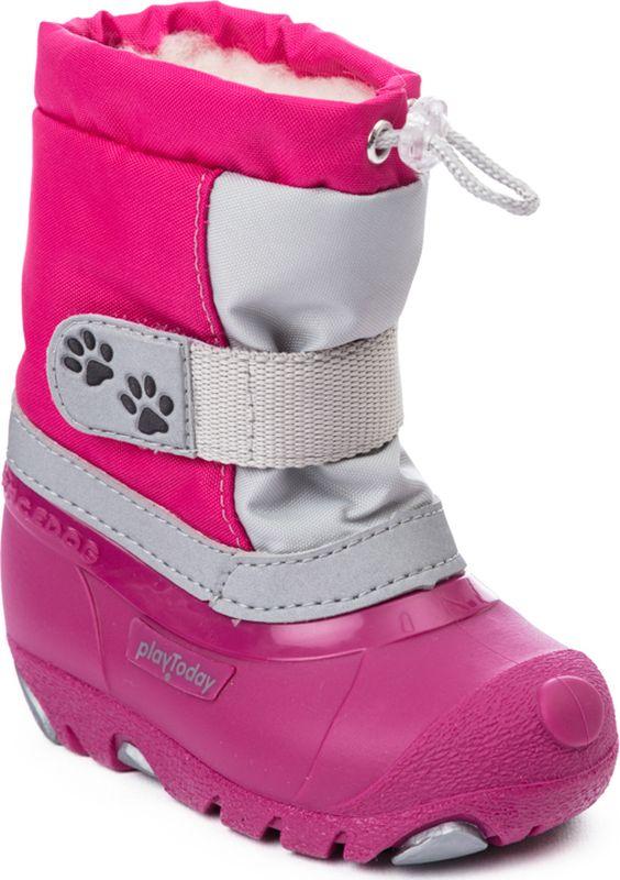 Сапоги для девочки PlayToday, цвет: розовый, темно-розовый, серый. 378206. Размер 19378206Комфортные сапоги отлично подойдут для холодной поголы. Высокая гибкая подошва с рифлением обеспечивает оптимальный комфорт. Наполненная носочная часть правильно формирует детскую стопу. Подкладка и стелька изх искусственного меха с высоким содержанием натуральной шерсти.