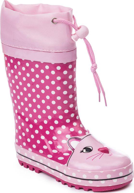 Сапоги для девочки PlayToday, цвет: розовый, светло-розовый, белый, сиреневый. 378220. Размер 26378220Яркие резиновые сапоги отлично подойдут для прогулок в дождливую погоду. Наполненная носочная часть для правильного формирования стопы. Подкладка и стелька с высоким содержанием шерсти.